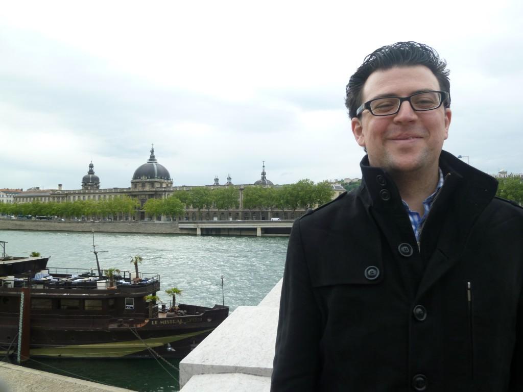 El compositor Albert Alcaraz en Lyon (Francia)